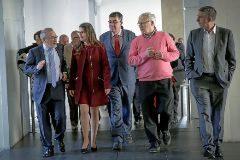 El presidente de Feria Valencia, José Vicente González, con Mónica Oltra, Enric Morera, Joan Ri bó y el  conseller Rafael Climent.