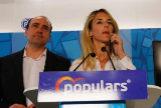 Barcelona, 22 de Marzo de 2019 Rueda de prensa de la candidata del PP por Barcelona Cayetana Alvarez de Toledo, acompañada por Daniel Serrano y Joan López Alegre.