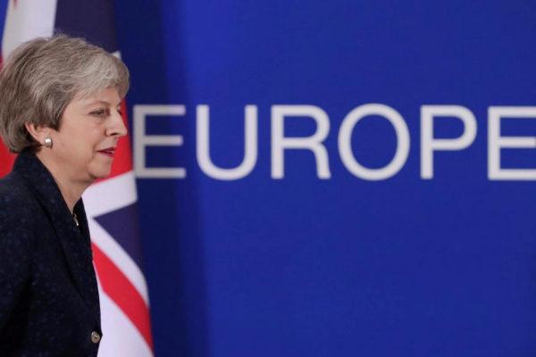 La primera ministra británica, Theresa May, en Bruselas.