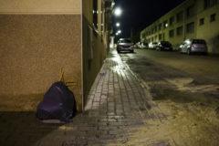 Una calle solitaria de Ciempozuelos.