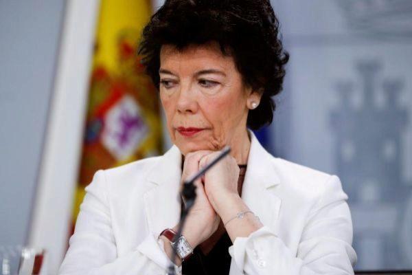 La ministra de Educación y Formación Profesional, Isabel Celaá, este viernes durante la rueda de prensa posterior al Consejo de Ministros.