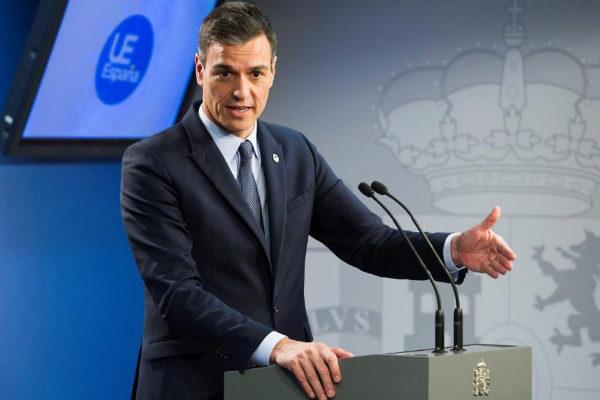 El presidente del Gobierno, Pedro Sánchez, en rueda de prensa en Bruselas.