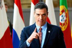 El presidente del Gobierno, Pedro Sánchez, en Bruselas