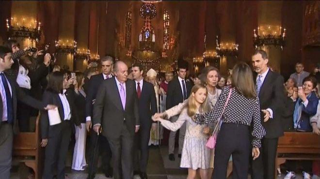 Momento de la pelea 'real' a las puertas de la Catedral de Palma