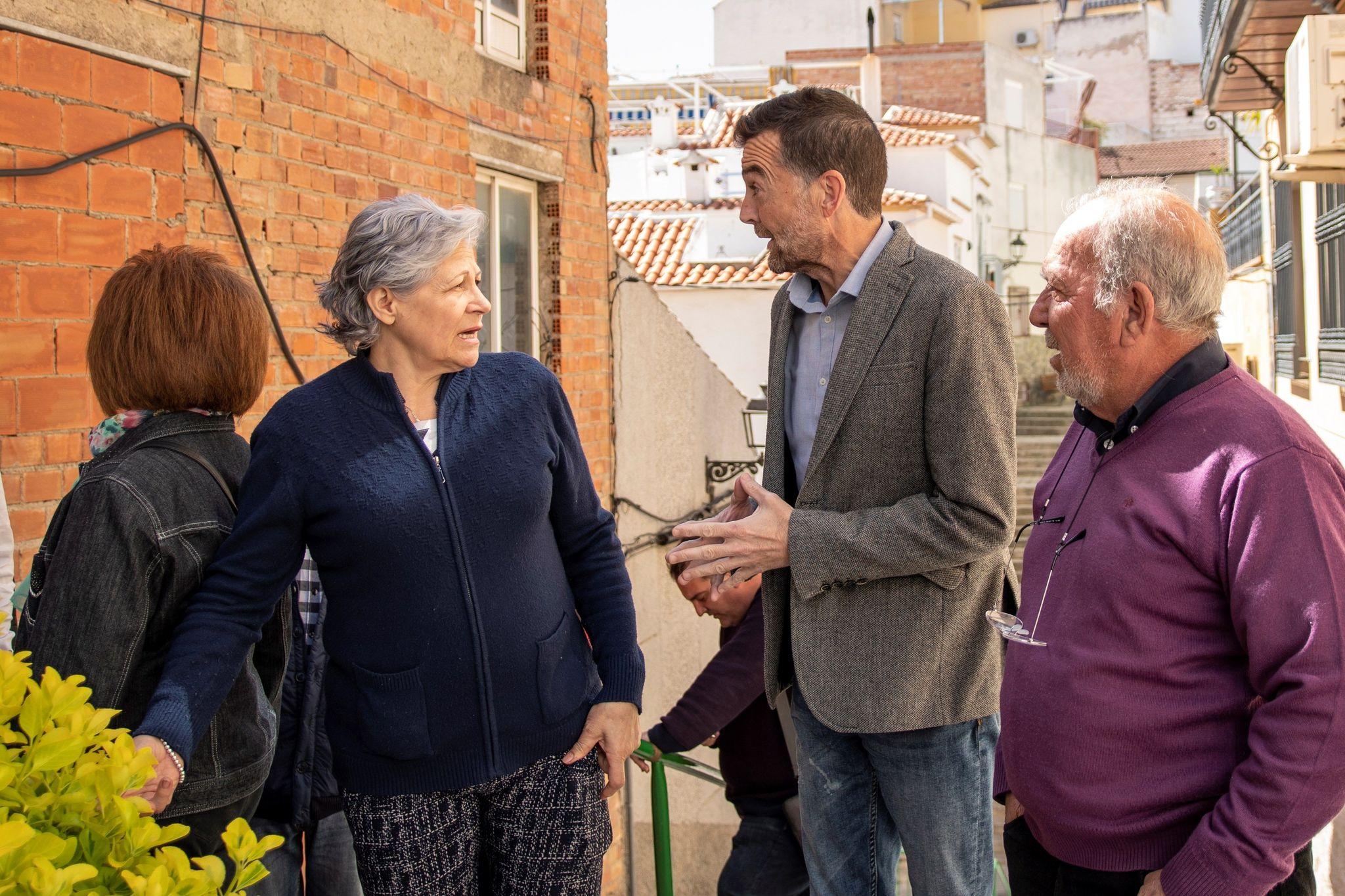 El coordinador general de IU-CA y portavoz de Adelante Andalucía, Antonio Maíllo, durante una visita realizada este viernes a Jaén.