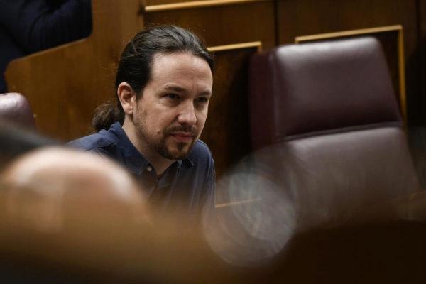 Pablo Iglesias, durante una sesión de control en el Congreso.