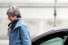 Theresa May, a su llegada a Downing Street, en Londres.