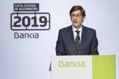 José Ignacio Goirigolzarri, durante su intervención en la Junta de Accionistas en Valencia.