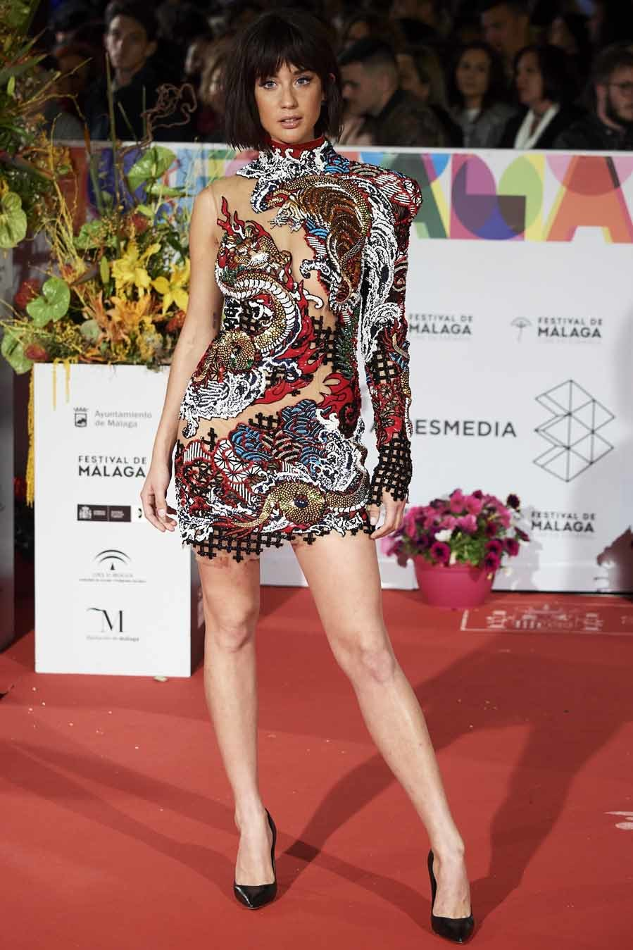 María Pedraza - Alfombra roja del Festival de Cine de Málaga