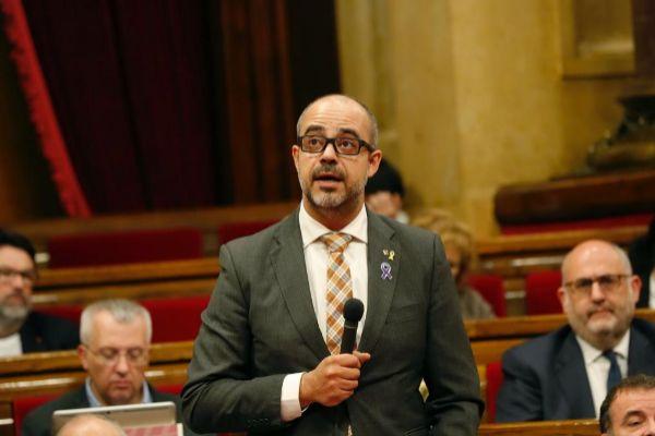 Buch en el Parlament de Catalunya