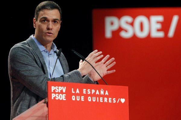 El prsidente del Gobierno, Pedro Sánchez, en un acto en Alicante.