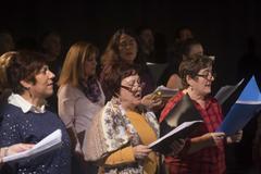 Uno de los ensayos de la ópera vecinal de Vallecas, que tendrá lugar el sábado 23 de marzo.