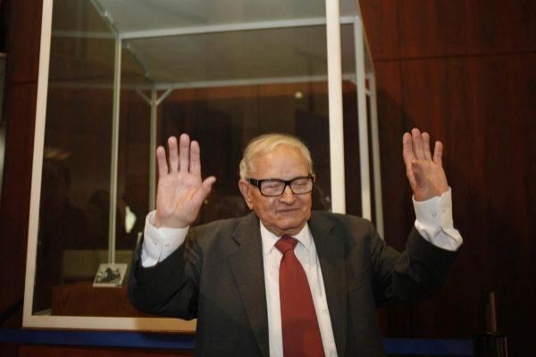 El veterano espía israelí Rafi Eitan.