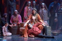 La representación de la ópera 'Il Trovatore' en el Teatro de La Maestranza.