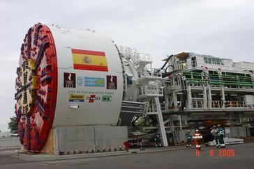 Tuneladora de la M-30 fabricada por la empresa Herrenknecht..