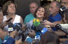 Juana Rivas y Francisca 'Paqui' Granados, ante la prensa en agosto de 2017.