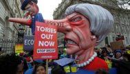 Imagen de la manifestación que congregó ayer a más de un millón de personas en Londres contra el Brexit y por un segundo referéndum.