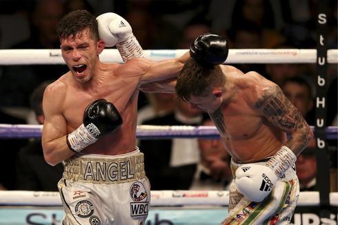 Moreno y Edwards, durante la pelea en el Copper Box Arena.