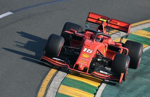 El Ferrari de Leclerc, durante el último GP de Australia.