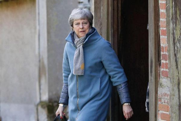 La primera ministra británica, Theresa May, en Londres.