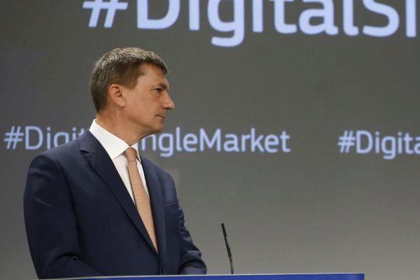 El estonio Andrus Ansip, comisario de Mercado Único Digital y vicepresidente de la Comisión Europea.