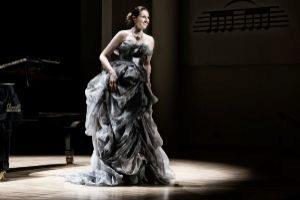 La soprano Teresa Albero durante una de sus actuaciones.