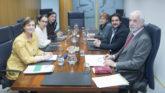Los miembros de la ponencia sobre Osakidetza.