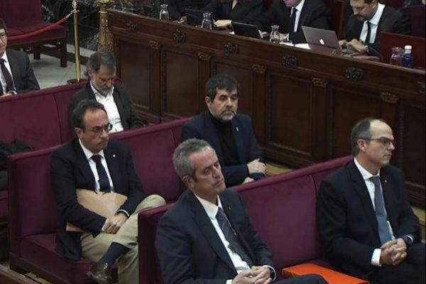 Varios de los acusados, durante una de las sesiones en el Supremo.