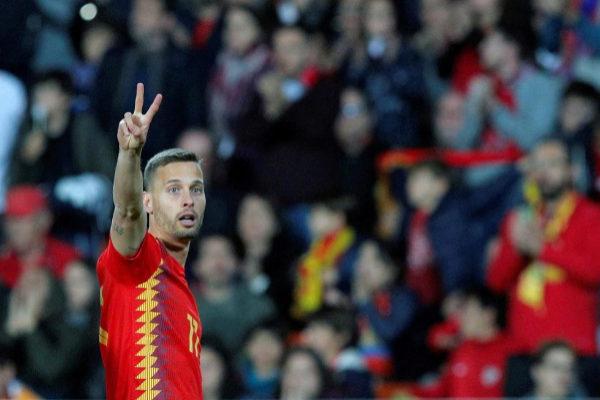El centrocampista de la selección española Sergio Canales