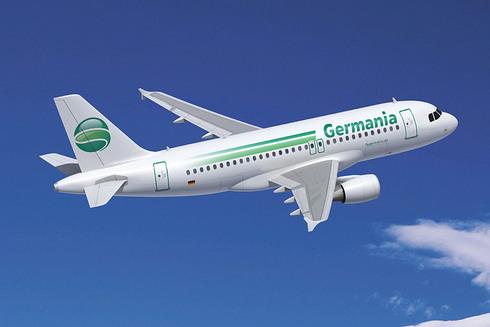 Un avión de la aerolínea alemana Germania.