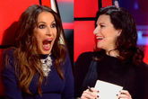 Malú y Laura Pausini coincidieron en La Voz en Telecinco