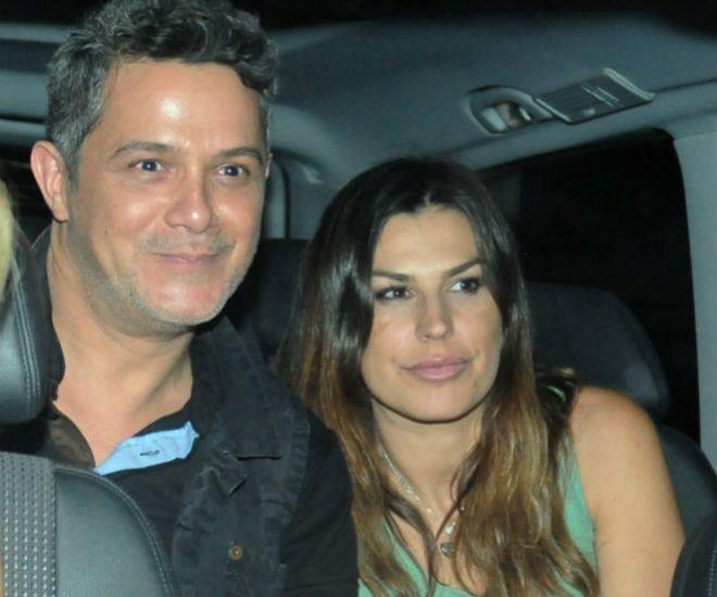 Alejandro Sanz y su mujer, en una imagen de archivo