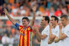 Mario Alberto Kempes, el único que lució la mítica camiseta de la Senyera, como en la Copa del 79.