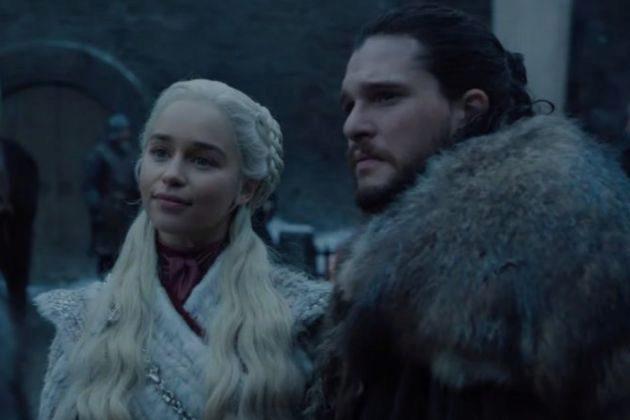 Daenerys Targaryen (Emilia Clarke) y Jon Nieve (Kit Harington) en la...