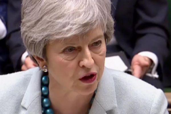 La 'premier' Theresa May en el Parlamento británico.
