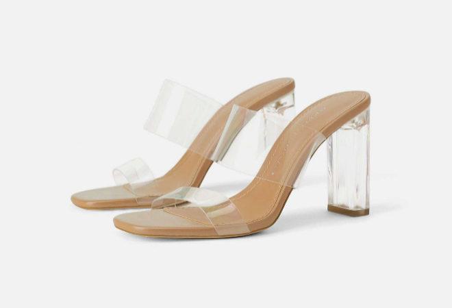 Precio reducido mejores zapatillas de deporte diseño innovador Zara tiene las sandalias transparentes que se comprarían Kim ...