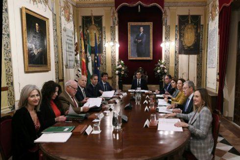 El primer Consejo de Gobierno presidido por Juanma Moreno en Antequera el 26 de enero pasado.