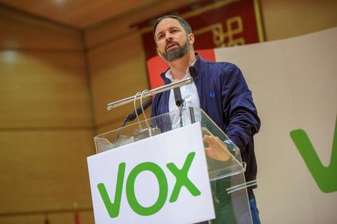 Santiago Abascal, en un acto de Vox en Ciudad Real