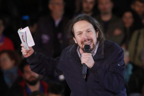 Pablo Iglesias, durante su acto de regreso el sábado
