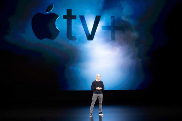 El CEO de Apple, Tim Cook, en la presentación de la compañía en Cupertino (California).