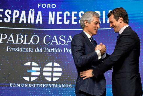 Pablo Casado y Adolfo Suárez Illana, en el foro 'La España necesaria' de EL MUNDO