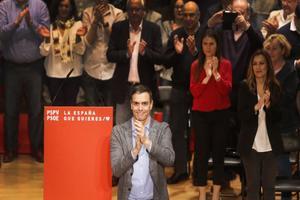 El presidente del Gobierno, Pedro Sánchez, el sábado en Alicante durante el acto del PSOE en la Universidad.