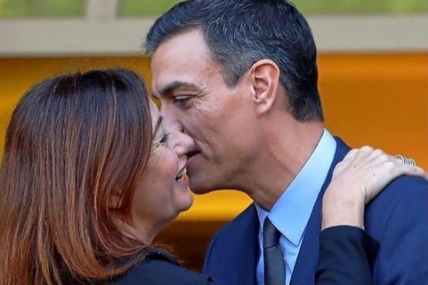 Pedro Sánchez y Francina Armengol, poco ante de la reunión que mantuvieron en noviembre en La Moncloa.