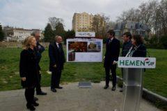 González y Urtaran, junto a otros candidatos del PNV, presentan el proyecto.