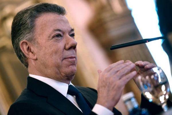 El ex presidente colombiano Juan Manuel Santos, hoy, en Madrid.