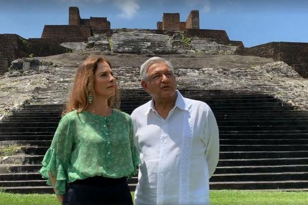Fotograma de un vídeo cedido por la Presidencia de México que...