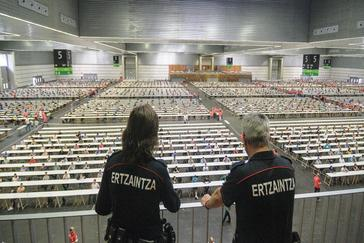 Una prueba para acceder a la Ertzaintza.