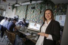 María José Català, en la presentación de su página web para la campaña.