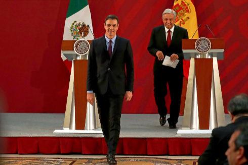 Pedro Sánchez, durante su visita a México el pasado enero