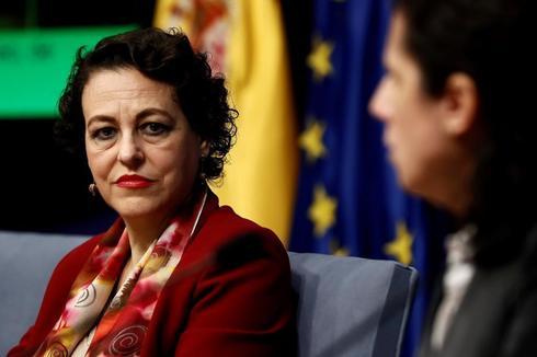 Magdalena valerio, ministra de Trabajo, durante unas jornadas sobre mujer y discapacidad celebradas la semana pasada.